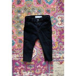 Zara Baby Black Frayed Hem Jeans. 9-12m
